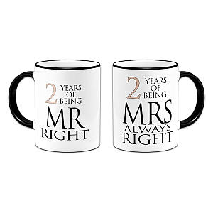 Second Year Anniversary Mugs