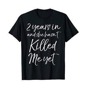 Second Year Anniversary T-Shirt for Him