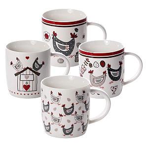 Set of 4 Chicken Mugs