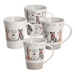 Set of 4 Dog Mugs