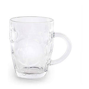 Set of 4 Glass Beer Tankards
