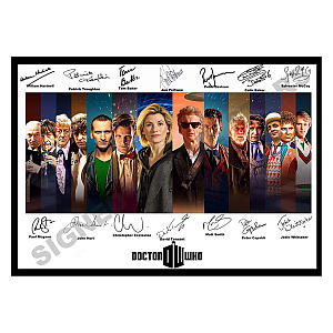 Signed (All) Doctor Who Print