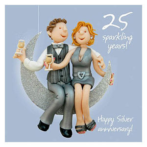 Silver Aniversary Card