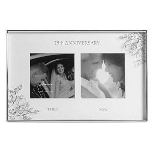 Silver Dual Photo Frame