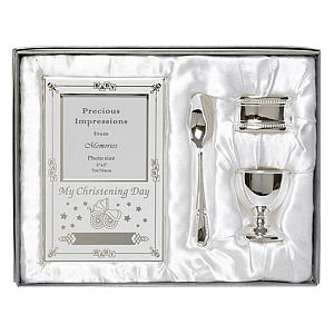 Silver Plated Christening Gift Set