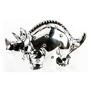 Silver Plated Dinosaur Money Box