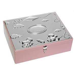 Silver Plated Girl's Keepsake Box