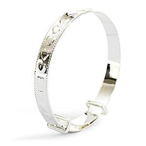 Silver Plated Heart Bracelet