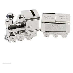 Silver Plated Train Money Box
