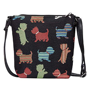 Small Tapestry Cross Body Bag with Animal Design