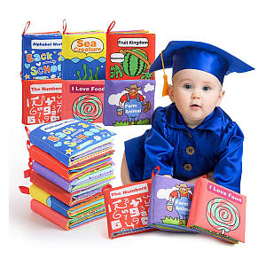 Soft Books for Babies Pack of 6