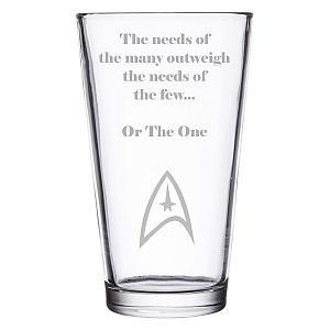 Star Trek Quote Beer Glass