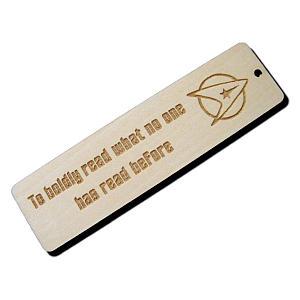 Star Trek Wooden Bookmark