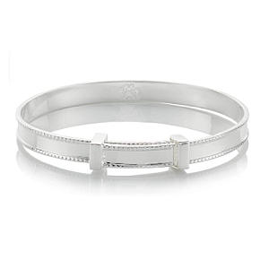 Sterling Silver Heritage Christening Baby Bangle