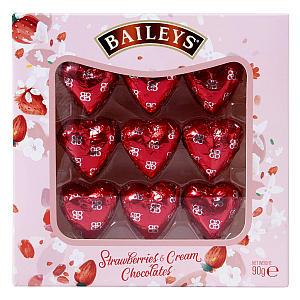 Strawberry & Cream Heart Chocolate Box