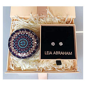 Stud Earrings and Scented Candle Set