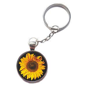 Sunflower Pendant Keyring