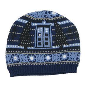 Tardis & Dalek Christmas Knitted Hat