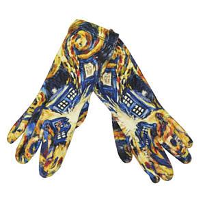Tardis Exploding Ladies Gloves