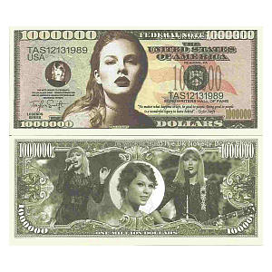 Taylor Swift Million Dollar Note