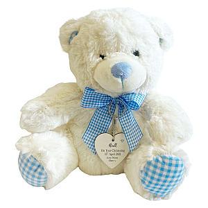 Teddy with Blue Heart Tag