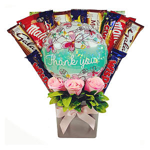 Thank You Chocolate Bouquet with Balloon