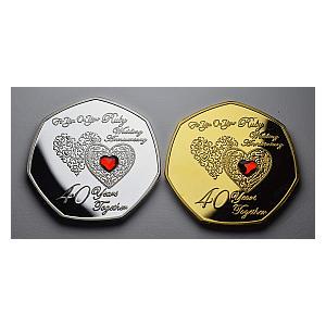 The Commemorative Coin 40th Ruby Anniversary