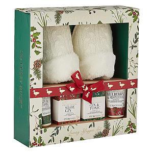 The Fuzzy Duck Winter Wonderland Slipper Set