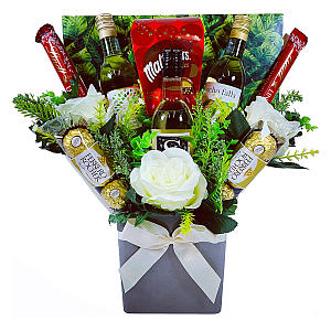 The White Wine & Chocolates Bouquet