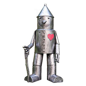 Tin Man & His Heart Metal Garden Sculpture