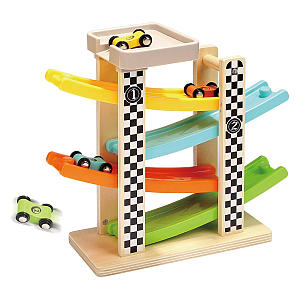 Top Bright Wooden Car Ramp Toy