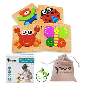 ToyerZ Wooden Peg Jigsaw Puzzles
