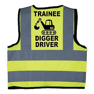 Trainee Digger Driver Hi Vis Jacket