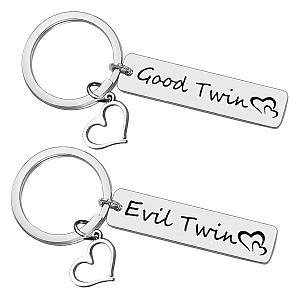 Twin Keyring Set