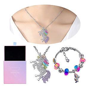 Unicorn Bracelet and Necklace Set