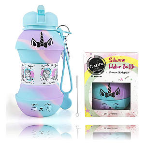 Unicorn Collapsible Water Bottle