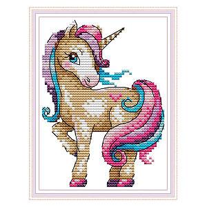 Unicorn Easy Cross Stitch Kit