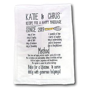 Vintage Anniversary Tea Towel