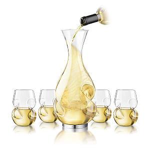 White Wine Decanter and Glasses Set