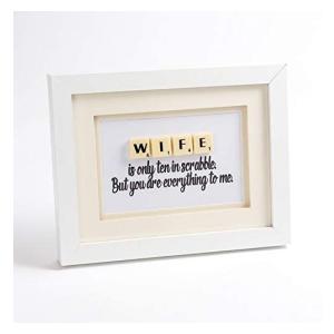 Wife Anniversary Scrabble Letter Frame