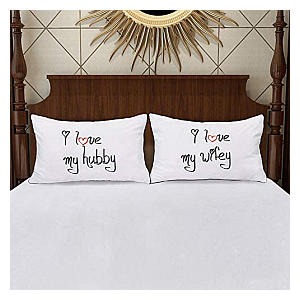 Wife and Husband Pillow Cases