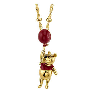 Winnie the Pooh with Red Balloon Necklace