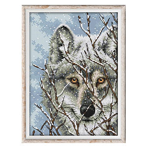 Wolf Image Embroidery Kit