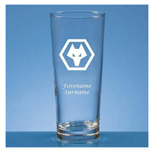Wolves Crest Personalised Pint Glass