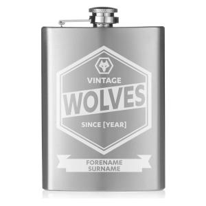 Wolves Personalised Hip Flask