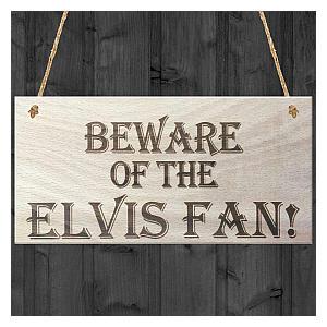 Wooden Elvis Fan Sign