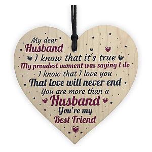 Wooden Heart for Husband
