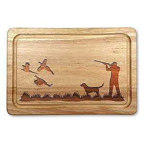 Wooden Peasant Shooting Scene Chopping Board