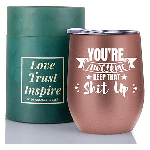 You're Awesome Wine Tumbler with Lid