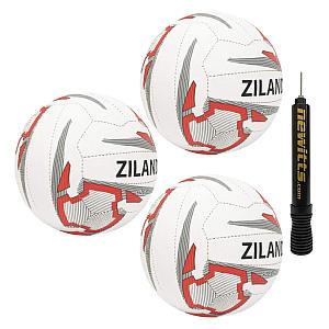Ziland Pro Match 3 Netballs & Pump Set